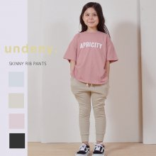 Skinny rib pants<br>4 color<br>『undeny.』<br>20SS <br>定価<s>2,970円</s>