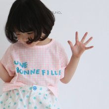 bon fille T<br>neon pink check<br>『guno・』<br>20SS 【STOCK】S/M/XL