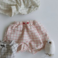 2 button shorts<br>red<br>『l'eau』<br>20SS