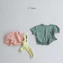 stitch pocket T<br>green<br>『l'eau』<br>20SS