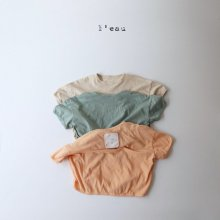 stitch pocket T<br>beige<br>『l'eau』<br>20SS 【Stock】
