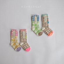 Check Socks<br>2 Color 1 Set<br>『yoi』<br>20SS