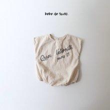 bebe bobo suit <br>muji beige<br>『bebe de guno・』<br>20SS <br>定価<s>3,200円</s>
