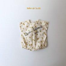 bebe bobo suit <br>flora<br>『bebe de guno・』<br>20SS <br>定価<s>3,200円</s>