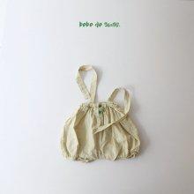 button strap bloomer <br>green check <br>『bebe de guno・』<br>20SS <br>定価<s>3,080円</s>