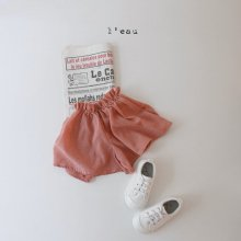 parisian skirt pants<br>red<br>『l'eau』<br>20SS <br>定価<s>2,900円</s>XS