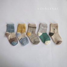 boys socks set<br>5 color 1Set<br>20SS