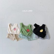 Fruit set<br>3 color<br>『lala land』<br>20SS <br>定価<s>2,400円</s>