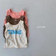 Tennis sleeveless<br>3 color<br>『lala land』<br>20SS <br>定価<s>1,600円</s>