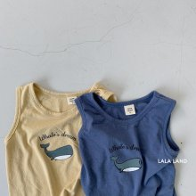 Whale  sleeveless<br>2 color<br>『lala land』<br>20SS<img class='new_mark_img2' src='https://img.shop-pro.jp/img/new/icons13.gif' style='border:none;display:inline;margin:0px;padding:0px;width:auto;' />