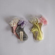 Frill socks<br>2 Color 1 Set<br>『yoi』<br>20SS