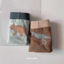 Dinosaur Boxer shorts set<br>2 color 1 set<br>『LaLaLand』<br>20FW【STOCK】