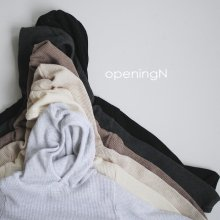 waffle hoodie <br>5 color<br>『opening N』<br>20FW