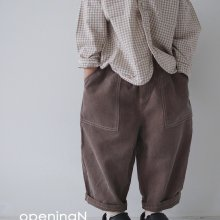 Pigment pants<br>2 color<br>『opening N』<br>20FW