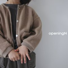 Waffle cardigan<br>2 color<br>『opening N』<br>20FW