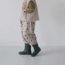 Sumi dot pants <br>2 color<br>『opening N』<br>20FW