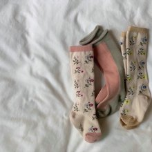 Little Flower Knee Socks<br>3 pieces 1 set<br>『Team』 <br>20FW<br>Restock