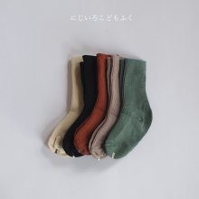 Autumn Bonbon Rib Socks<br>5 pieces 1 set<br>『Team and』 <br>20FW