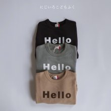 Hello big sweatshirt<br>3 color<br>『FOV』<br>20FW【RESTOCK】