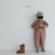 puff suit <br>brick check<br>『guno・』<br>20FW