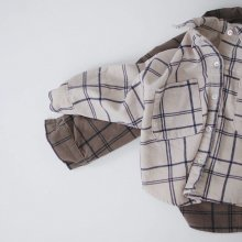 Papa checkered shirt<br>2 color<br>『opening N』<br>20 FW 【PRE ORDER】