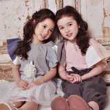 Feather Sleeve Tシャツ<br>(Pink/Gray)<br>Dimplemoment 2015SS<br>定価<s>3,500円</s><b>20%Off</b>