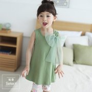 Big Ribbon ワンピース<br>(Green) 定価<s>¥3,500</s><br><b>30%Off</b><img class='new_mark_img2' src='https://img.shop-pro.jp/img/new/icons20.gif' style='border:none;display:inline;margin:0px;padding:0px;width:auto;' />