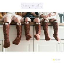 Raccoon knee socks<br>Gray/Brown<br>minidressing
