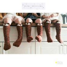 Raccoon knee socks<br>Gray/Brown<br>minidressing