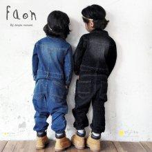 デニムジャンプスーツ<br>Blue/Black<br>FaOn 2015AW<br>定価<s>7,800円</s><b>20%Off</b>