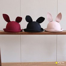 Bunny wool hat <br>うさぎのハット<br>Black/Wine/Beige<br>minidressing