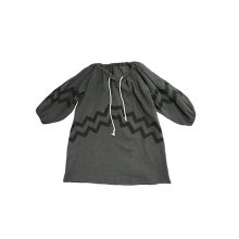 Wave Dress (Organic Cotton)<br>CHARCOAL<br>『Tambere』 <br>16SS<br>定価<s>8,900円</s>&nbsp;<b>20%Off</b>