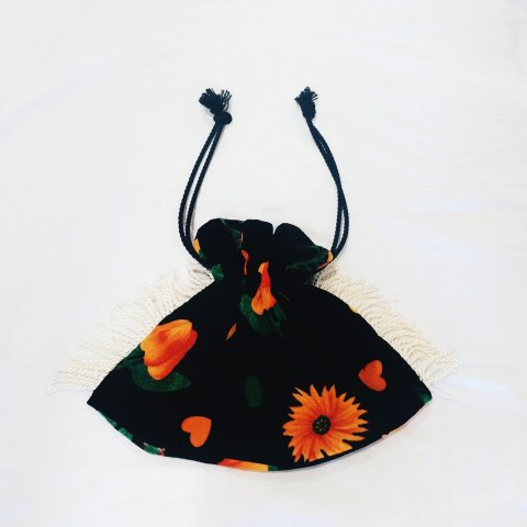omeal the kinchaku / Flower & Heart Bag