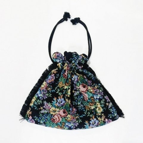 omeal the kinchaku / Gobellins Flower - black