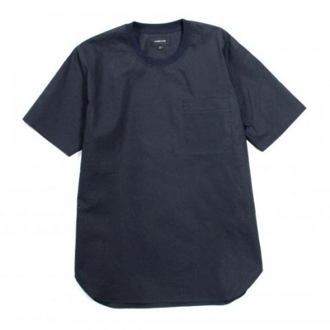 MAIDEN NOIR / BROADCLOTH SS SHIRT - navy