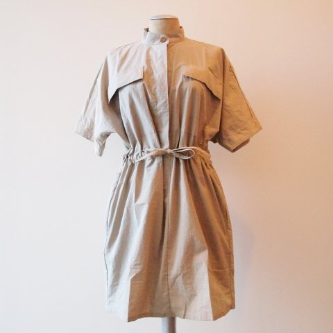 MAIDEN NOIR /  BOXY SHIRT DRESS - beige