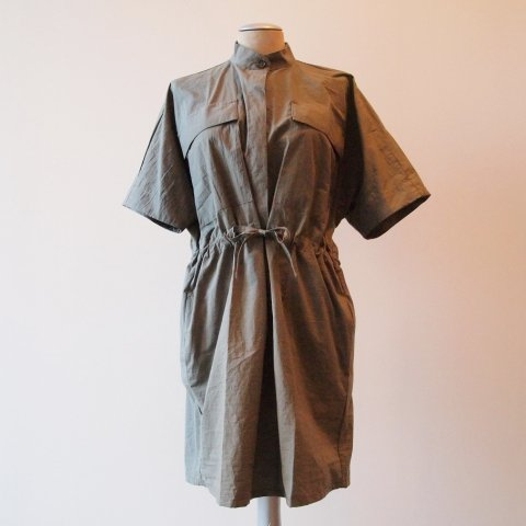 MAIDEN NOIR /  BOXY SHIRT DRESS - khaki