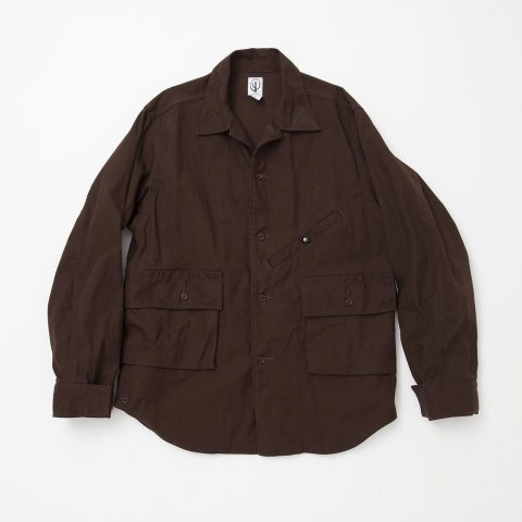 CORONA / HUNTER HIKER SHIRT - cotton duck brown