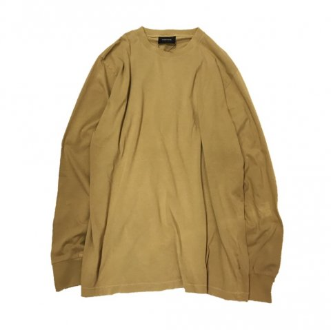MAIDEN NOIR / Natural Dyed Block LS Jersey - mustard