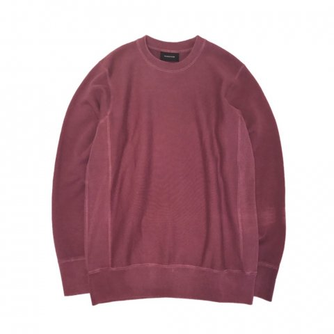 MAIDEN NOIR / Natural Dyed Crew Fleece - berry