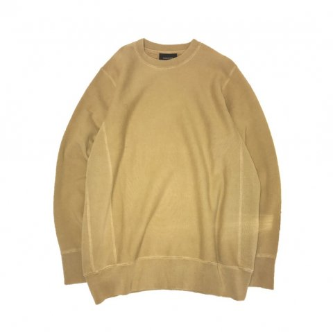 MAIDEN NOIR / Natural Dyed Crew Fleece - mustard
