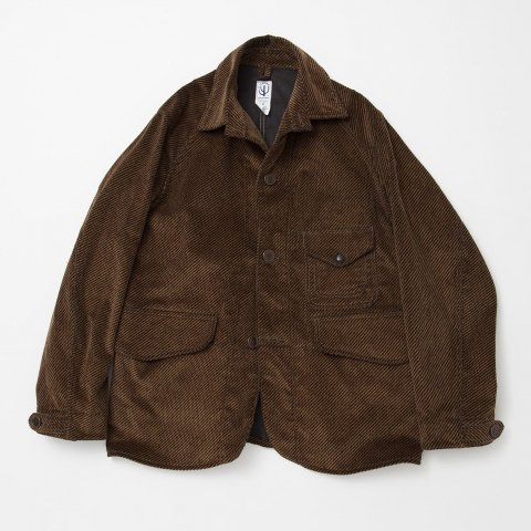 <img class='new_mark_img1' src='//img.shop-pro.jp/img/new/icons3.gif' style='border:none;display:inline;margin:0px;padding:0px;width:auto;' />  CORONA / GAME JACKET LIGHT - tweeduroy khaki × brown