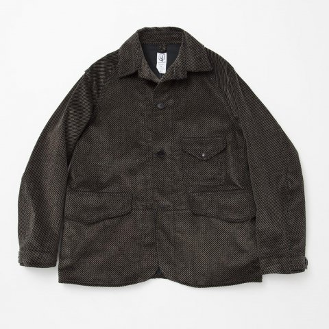 CORONA / GAME JACKET LIGHT - tweeduroy gray × black