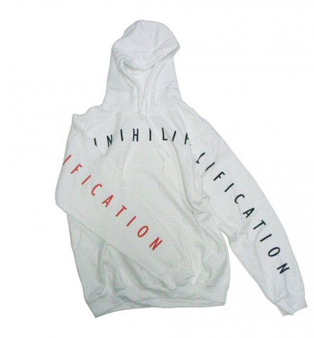 SPUT performance / Floccinaucinihilipilification Hoodie - white