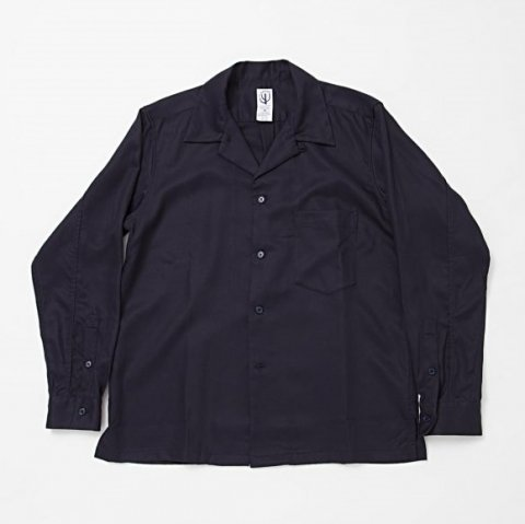 CORONA / FRENCH CAFE SHIRT L/S - tencel gabardine navy