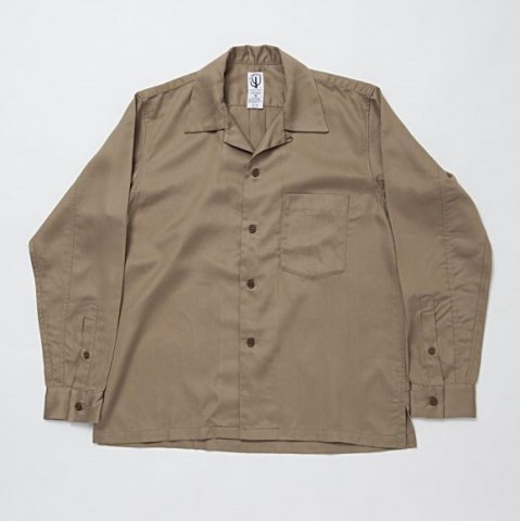 CORONA / FRENCH CAFE SHIRT L/S - tencel gabardine khaki