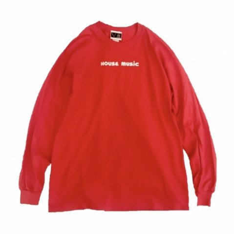 SPUT performance / HOUSE MUSIC L/S T-shirt - red