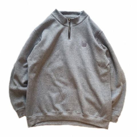 SLIP INSIDE / SIS Half Zip Sweat - ash gray