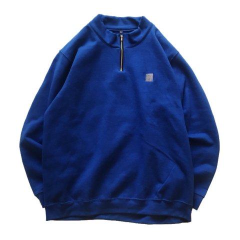 SLIP INSIDE / SIS Half Zip Sweat - royal blue