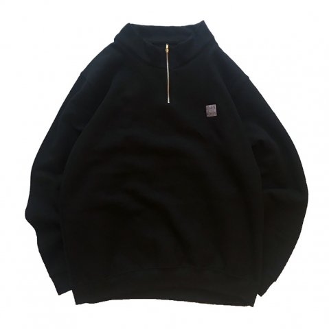 SLIP INSIDE / SIS Half Zip Sweat - black
